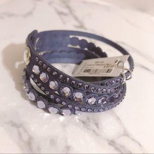 navy and purple swarovski bracelet